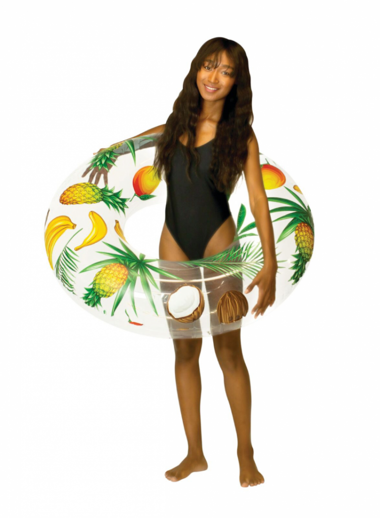 Clear Tropical Fruit Pool Tube 48″