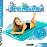 Glitter Deluxe Pool Raft 74″ – Blue