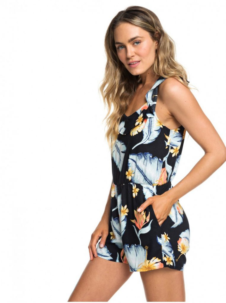Temple Of Tropics Strappy Romper