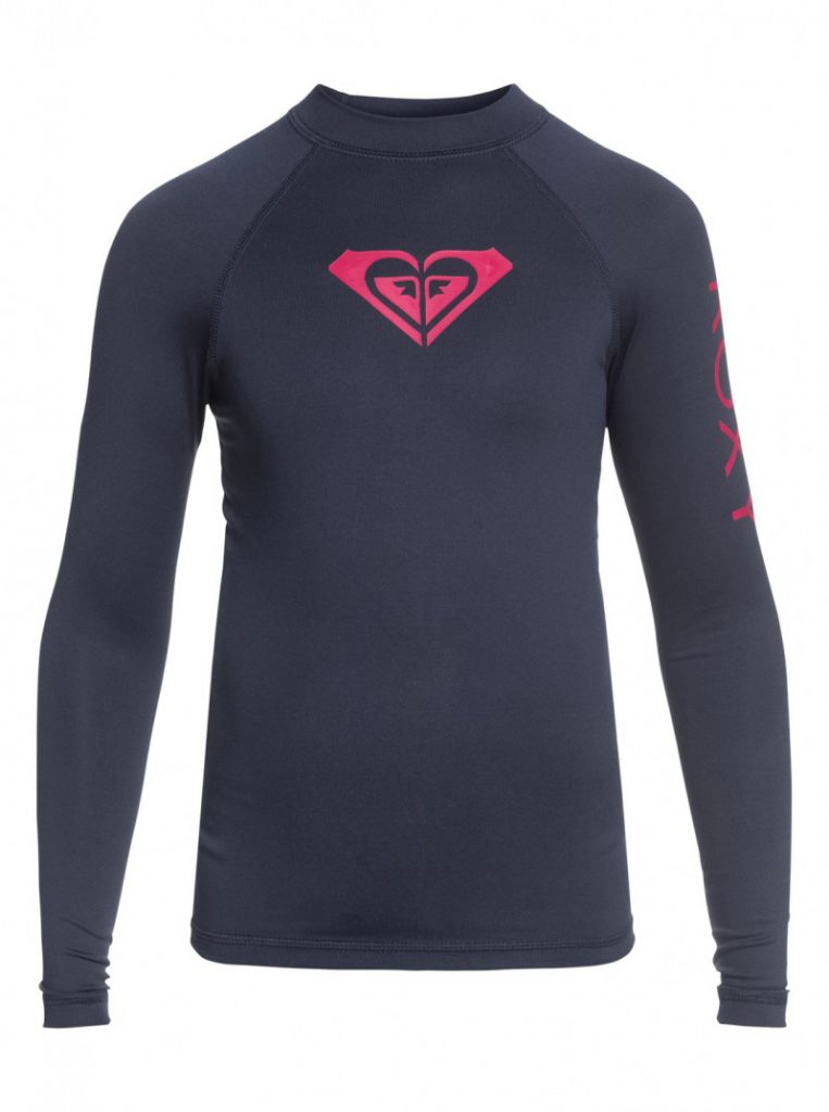 Girls 7-14 Whole Hearted Long Sleeve UPF 50 Rashguard
