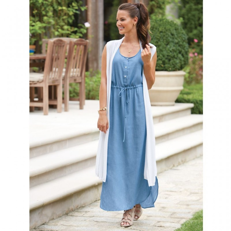 Derby Maxi Dress Chambray