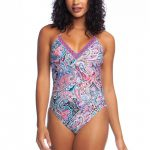 SWIRLIN AROUND V-NECK MIO ONE PIECE