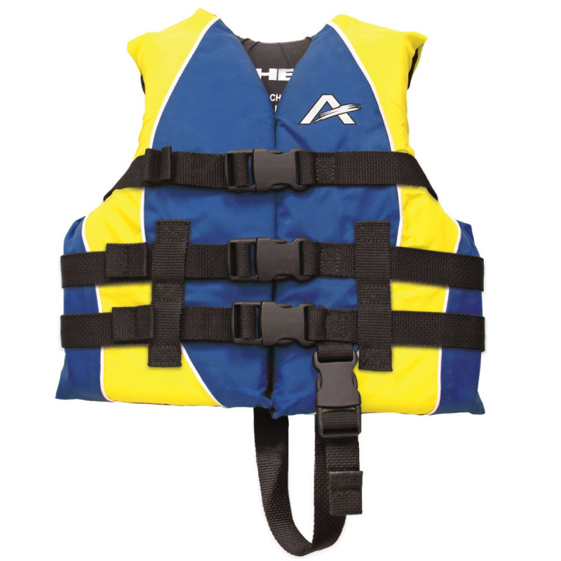 Child Closed Side Nylon PFD, BL/YW