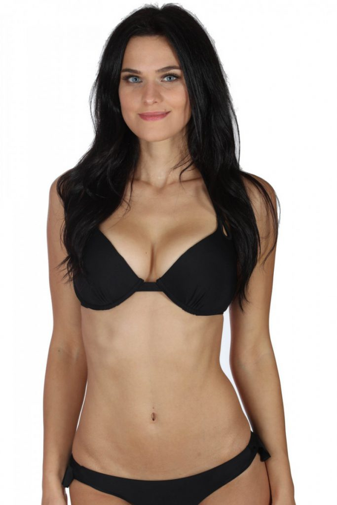 Underwire Push Up Top – Black
