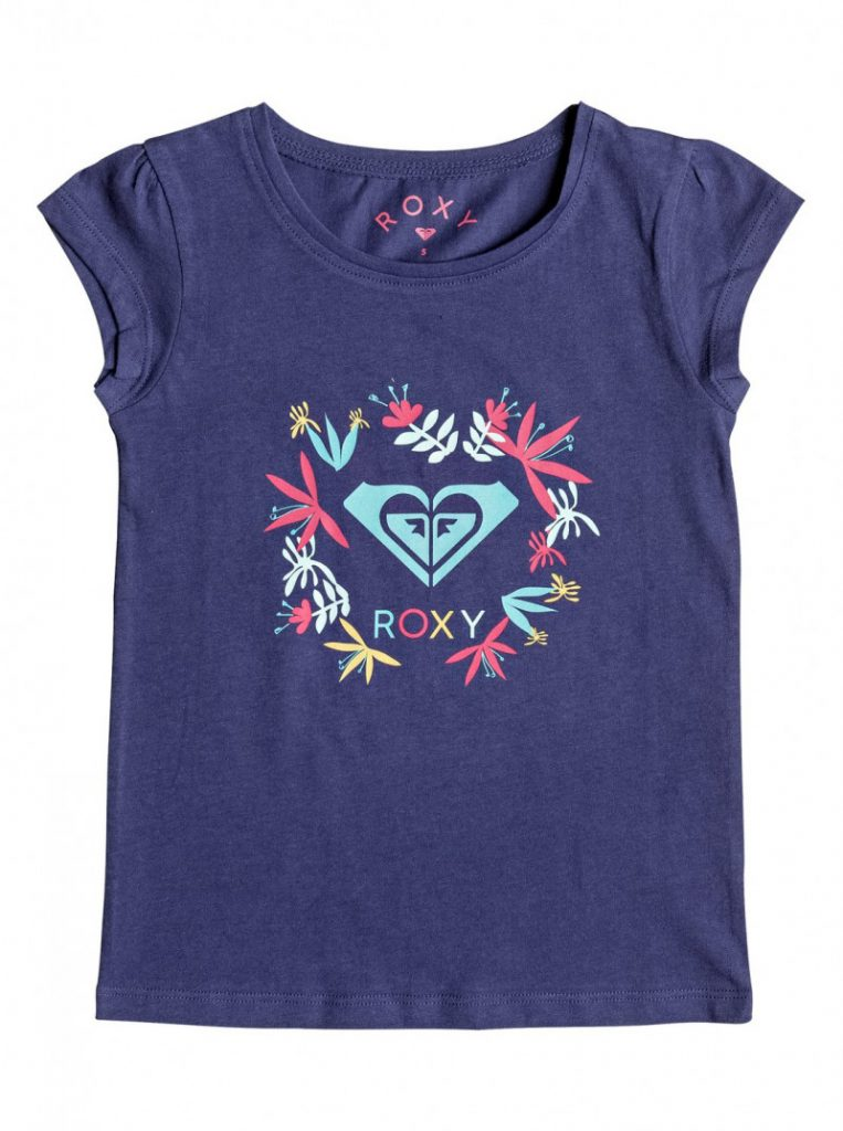 Girls 2-6 Moid Flower Logo Short Sleeve Tee