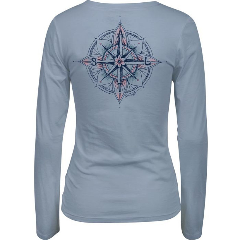 Never Lost Long Sleeve V-Neck Tee
