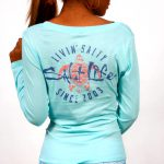 Living Salty Scoop Neck Long Sleeve Tee