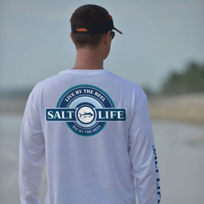 Live by the Reel Long Sleeve Pocket Tee