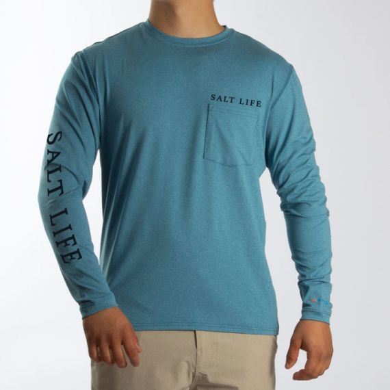 Get Lured In Performance Long Sleeve Pocket Tee