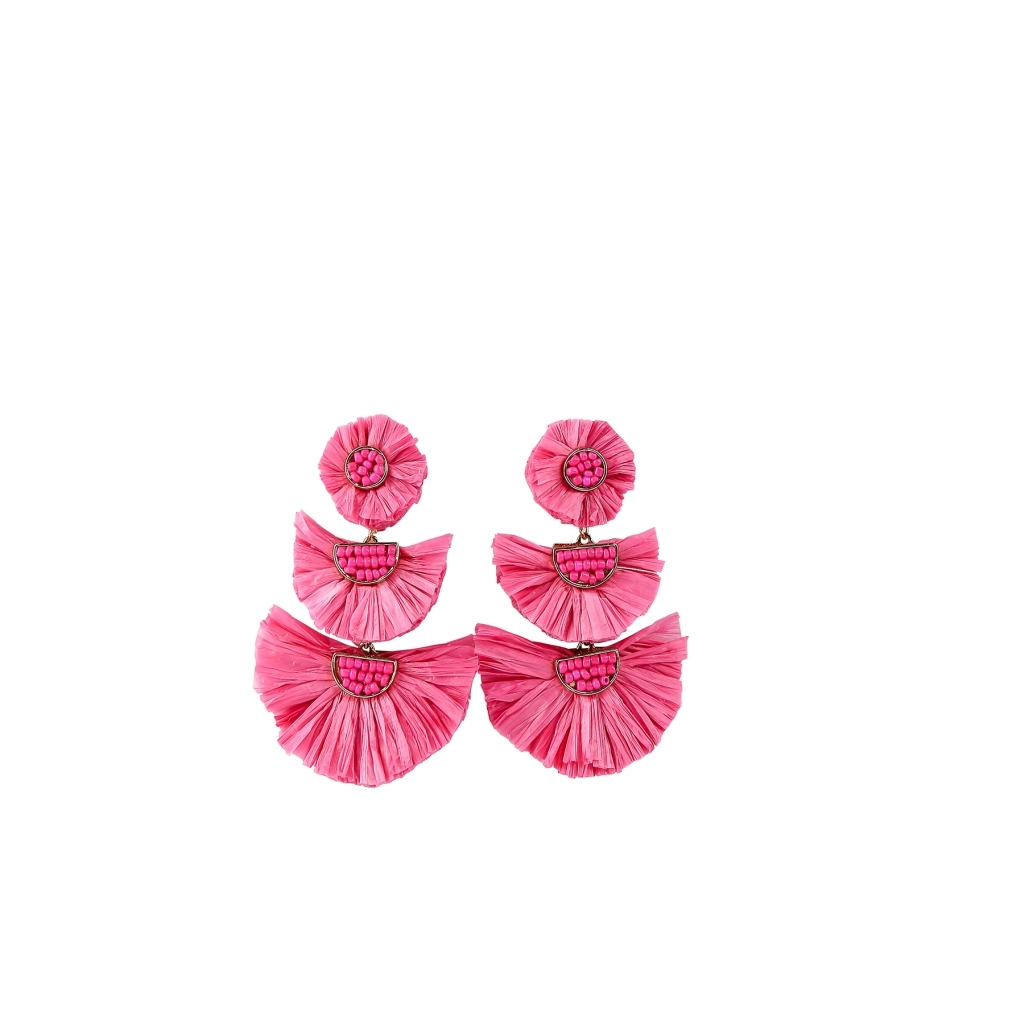 Earrings Tijuana Hot Pink