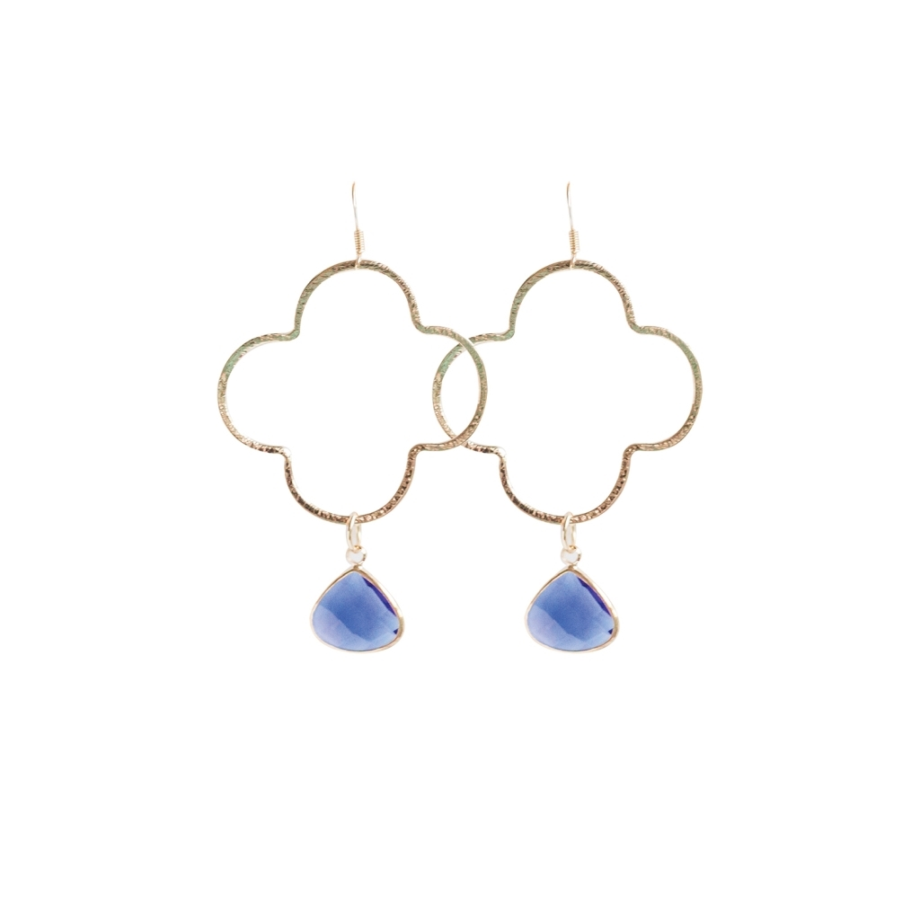 Earrings Catalina Gold/blue