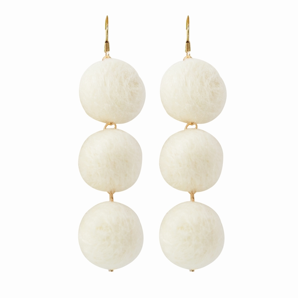 Earrings Manhattan White