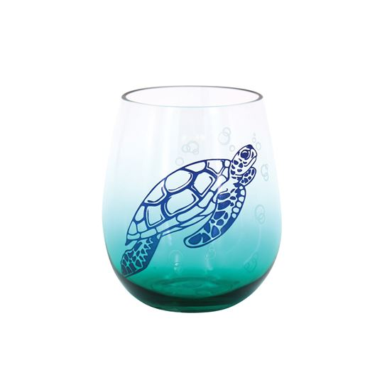 Sea Turtle Stemless Glass