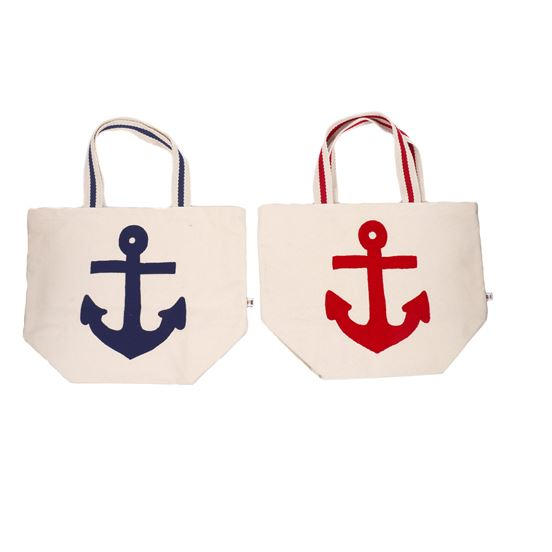 Embroidered Anchor Tote Bag