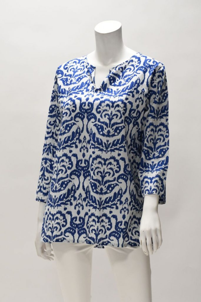 Printed Cotton Tunic Dress