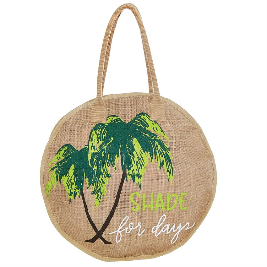 Shade For Days Round Jute Tote Bag