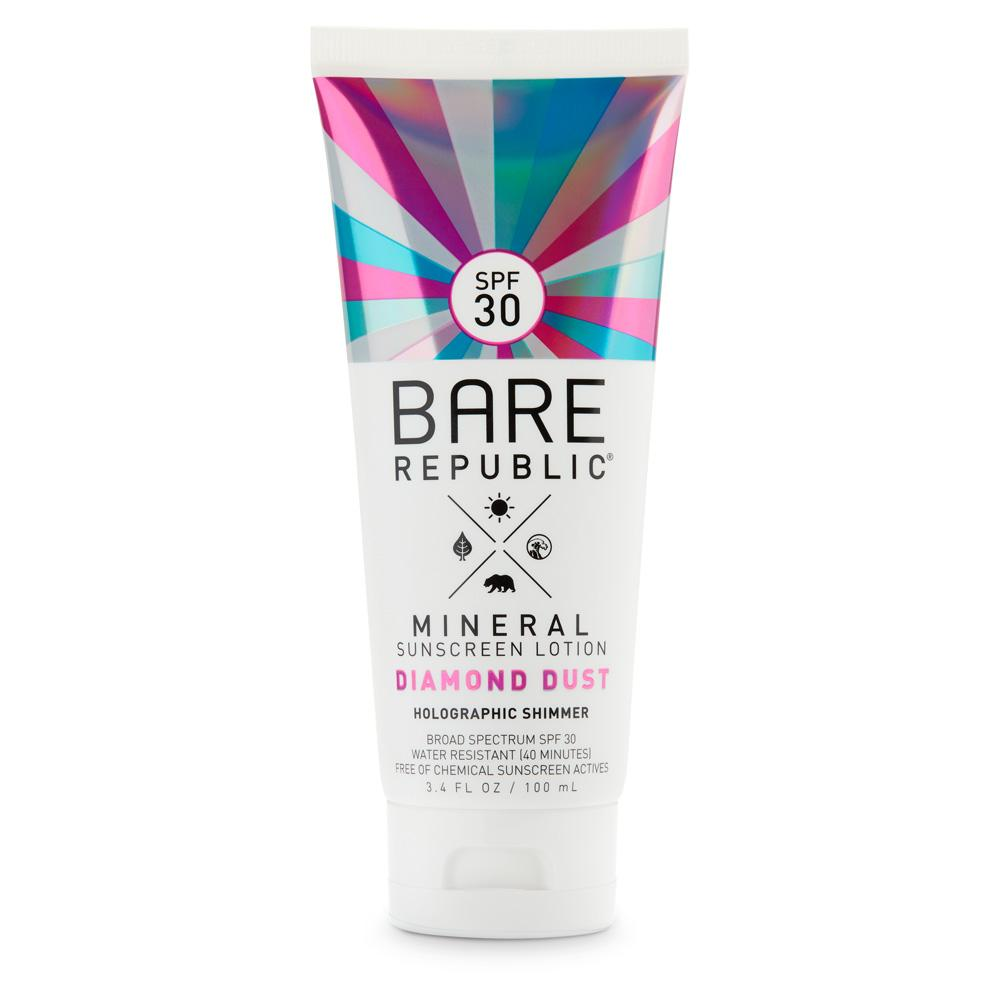Mineral SPF 30 Holographic Shimmer Sunscreen Lotion – Diamond Dust
