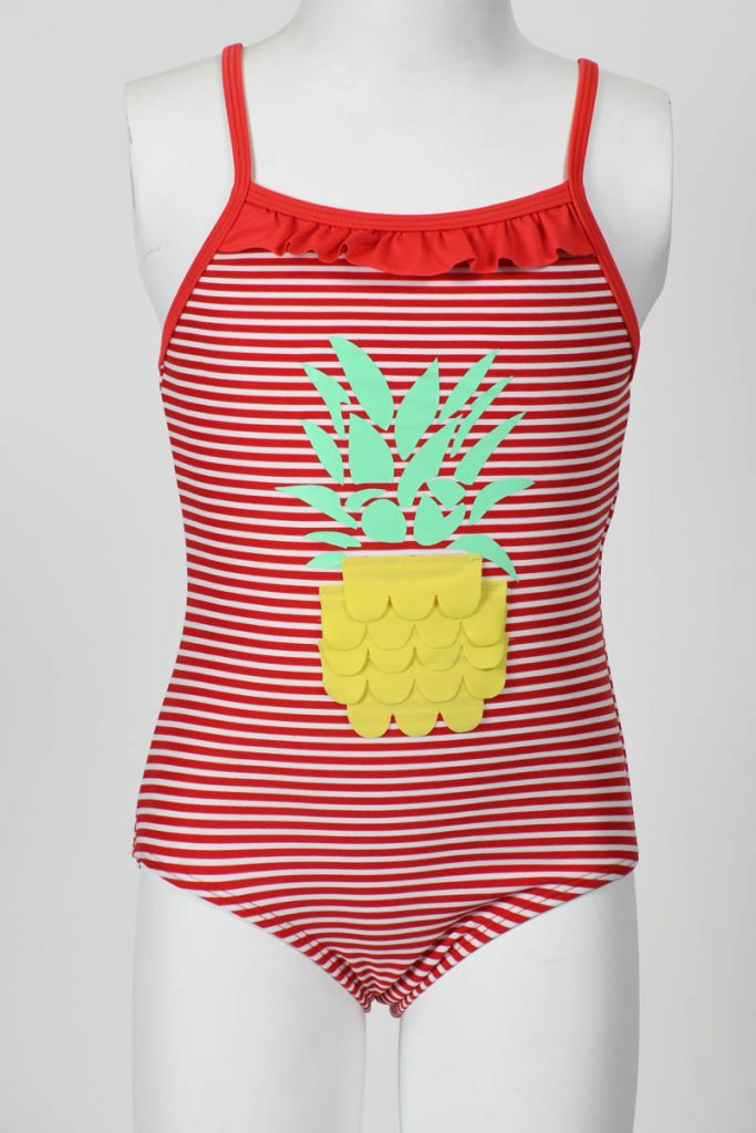 Toddler Girl 1 Piece Pineapple