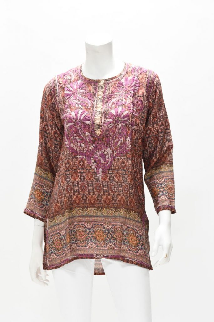 Hand Embroidered Silk Tunic