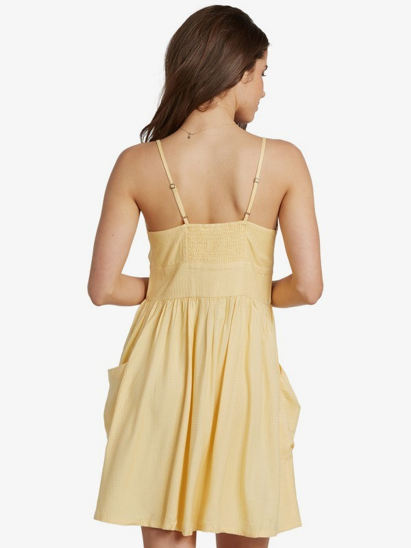 Under The Cali Sun Strappy Buttoned Dress