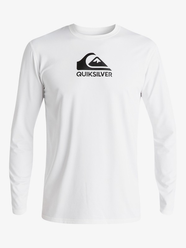 Qsm Solid Streak Long Sleeve Upf50 Surf Tee
