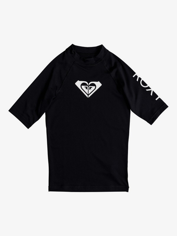 Girls 8-16 Whole Hearted Short Sleeve Upf 50 Rashguard