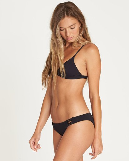 Sol Searcher Fixed Tri Bikini Top (Black)