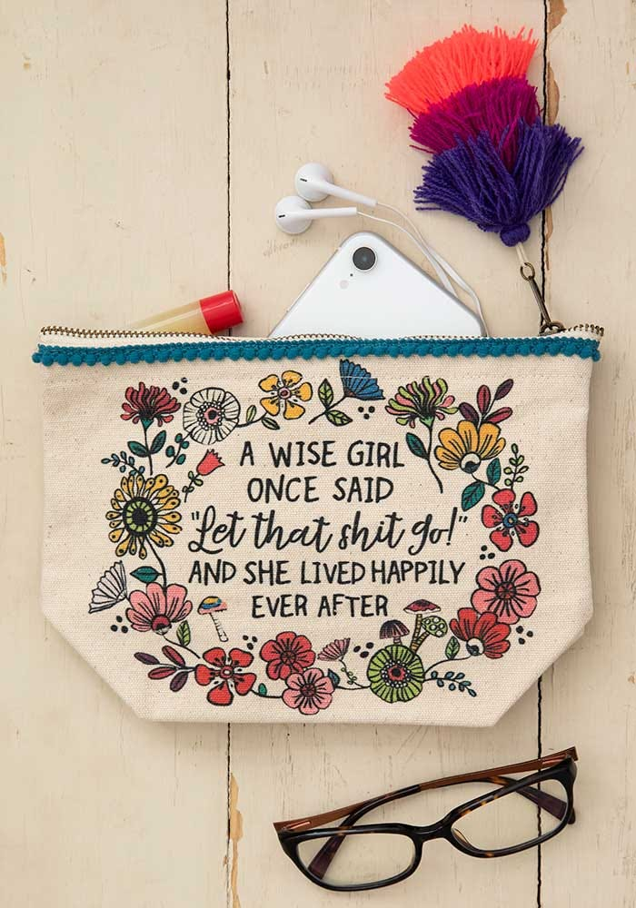 Wise Girl Canvas Pouch