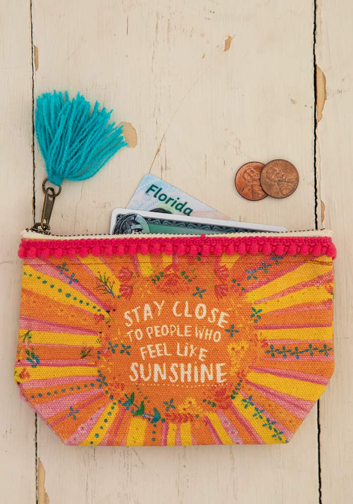 Sunshine Mini Canvas Pouch