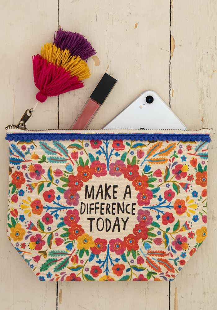 Make A Difference Canvas Pouch
