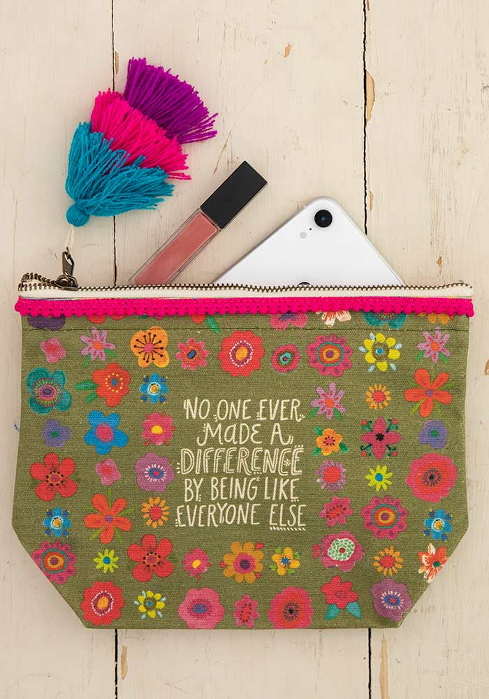 No One Ever Canvas Pouch