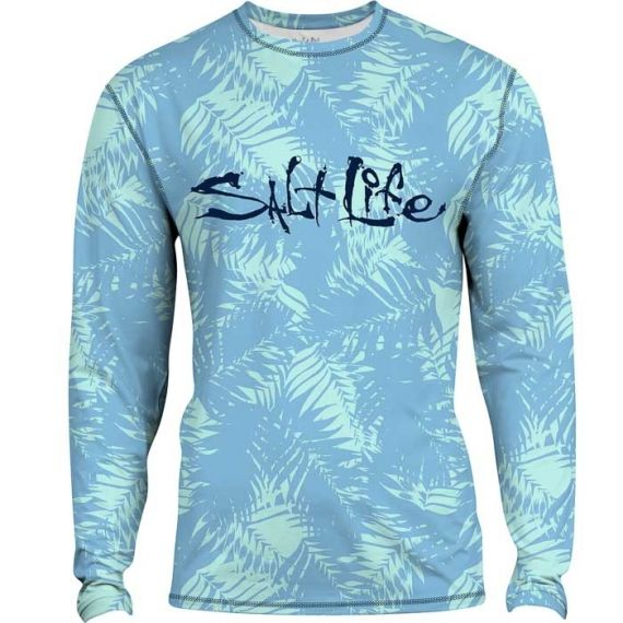Endless Palms Long Sleeve Girls Rash Guard