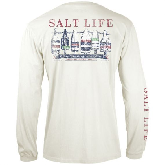 Lobster Buoys Salt Wash Long Sleeve Pocket Tee Sale